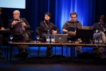 """Picture of Mey Lean Kronemann (center) at """"After the revolution(s): Internet freedoms and the post-digital twilight"""""""