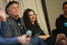 Bjørn Melhus and Donna Verheijden during the Q&A of Alter Media