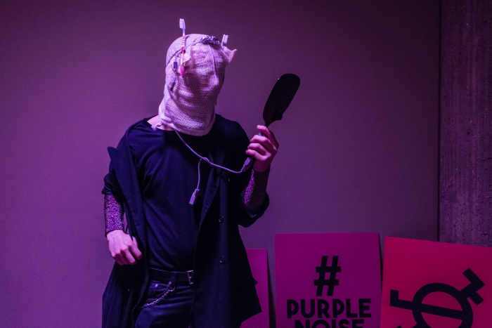 #purplenoise during the performance ᕦ(⩾﹏⩽)ᕥ Opting out Is Not an Option!