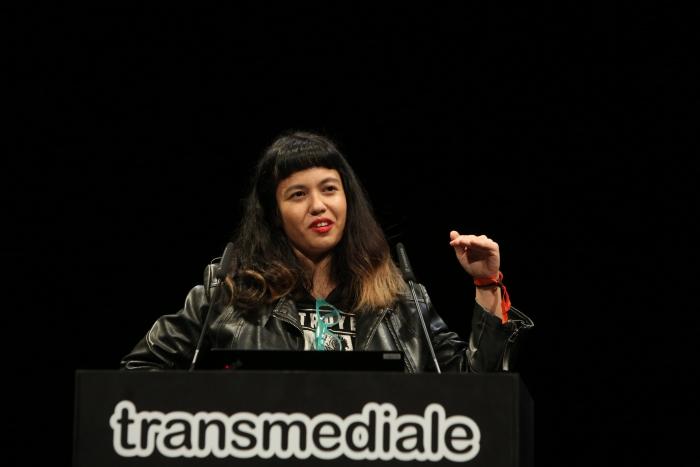 Jackie Wang delivering her keynote Carceral Temporalities