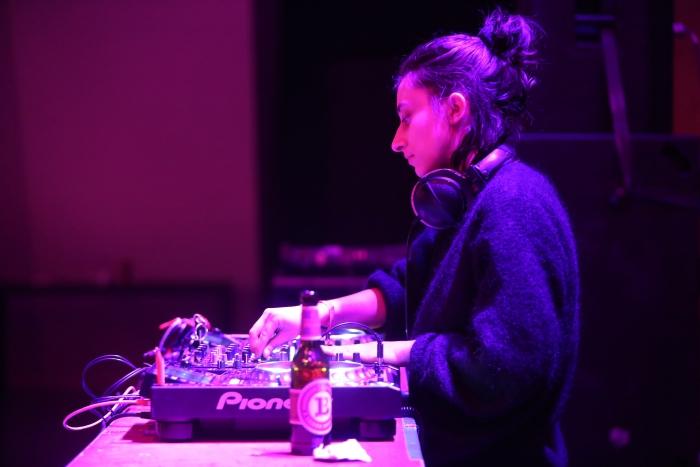 DJ Puddle during her DJ Set